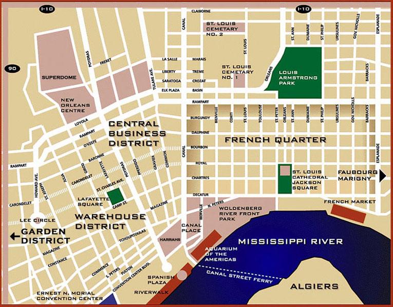 Inn The Quarter City Map